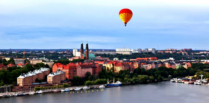 Experience Stockholm from above in an air balloon