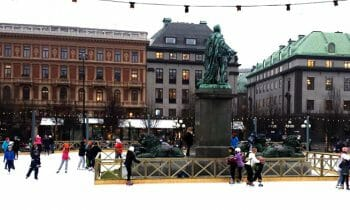 Ice Skating in Stockholm: Kungsträdgården