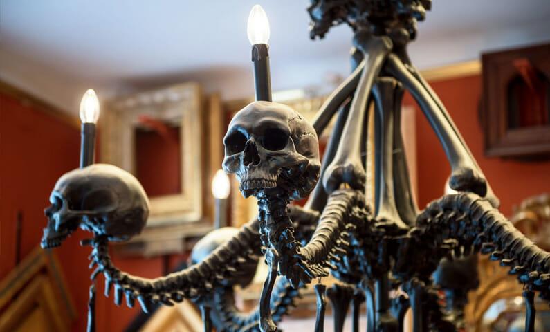 My Skull Chandelier