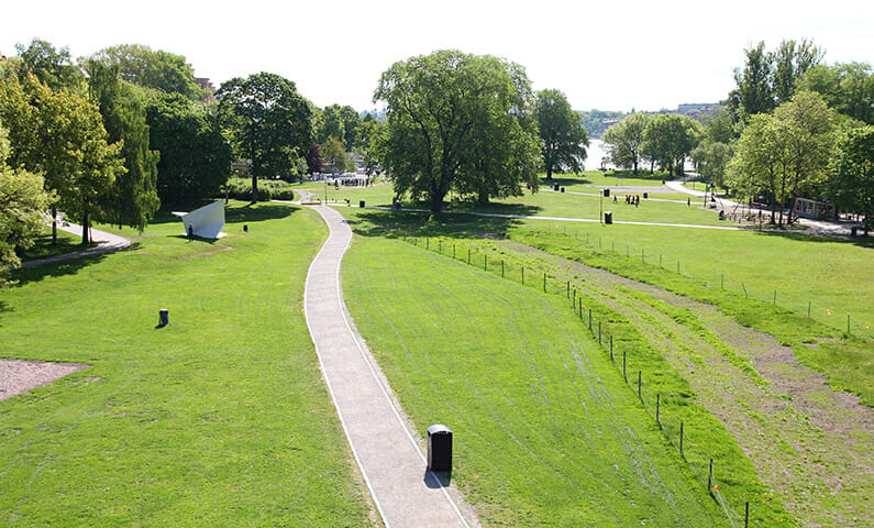 Running on Kungsholmen in Stockholm