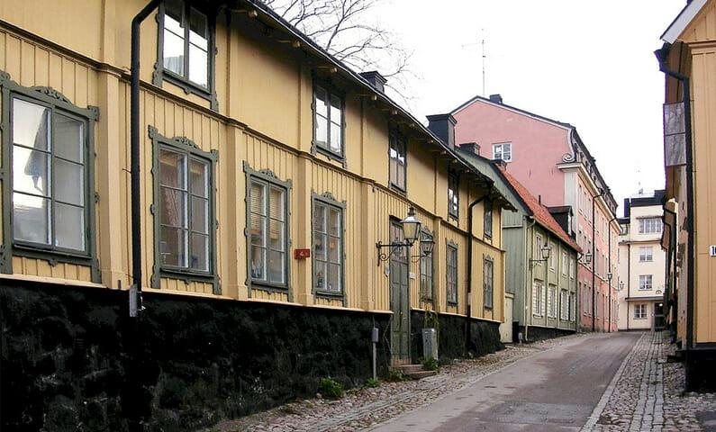 Långa gatan på Djurgården i Stockholm