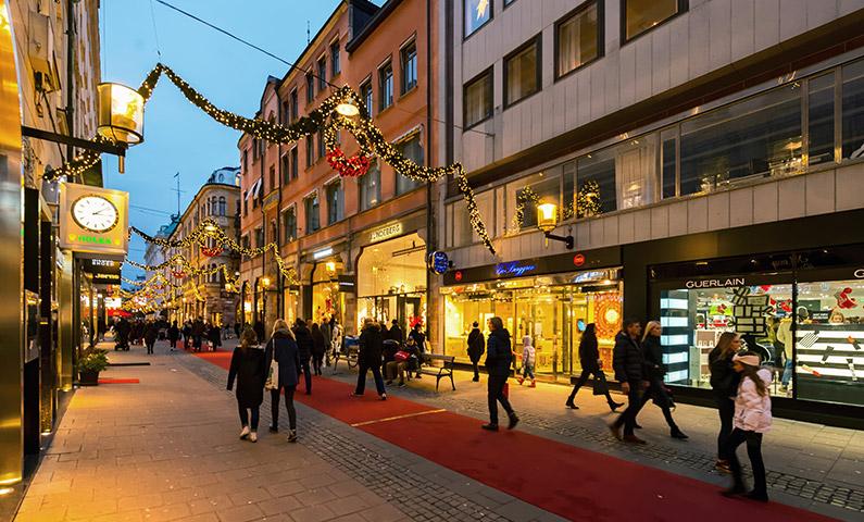 Biblioteksgatan shopping Stockholm