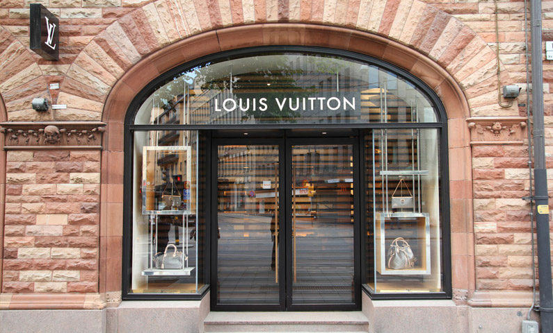 Louis Vuitton on Birger Jarlsgatan in Stockholm