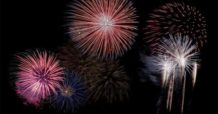 Fireworks New Year Stockholm