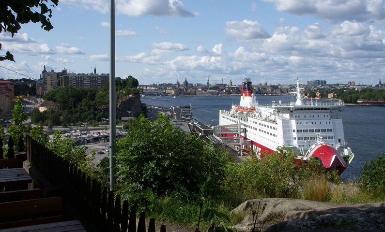 View from Fåfängan on Södermalm