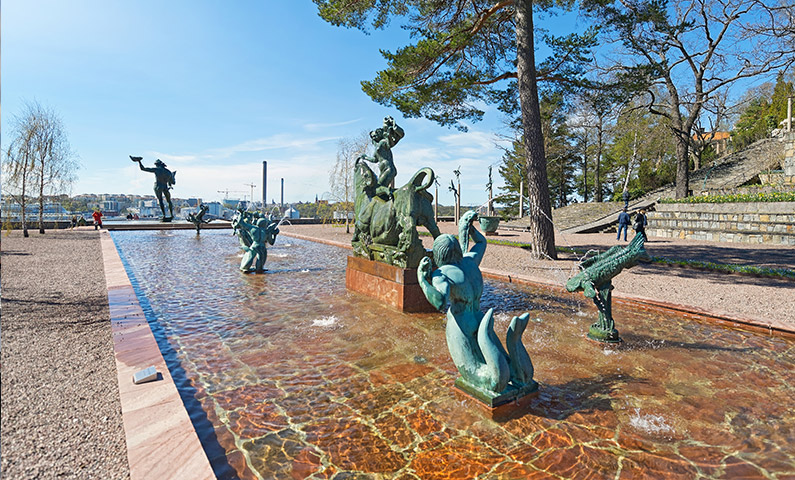 The sculpture park at Millesgården on Lidingö