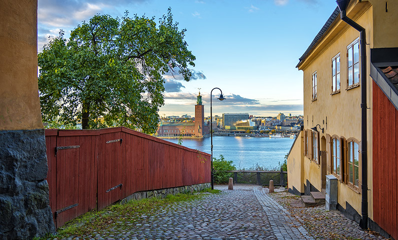 View from Monteliusvägen in Södermalm