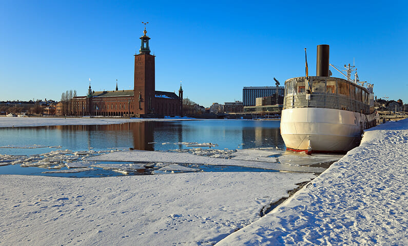 Stockholm winter water