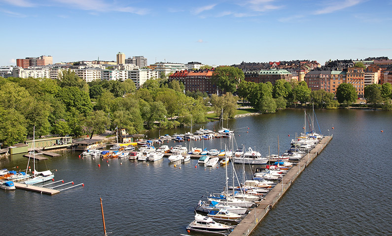 View of Kungsholmen from Västerbron