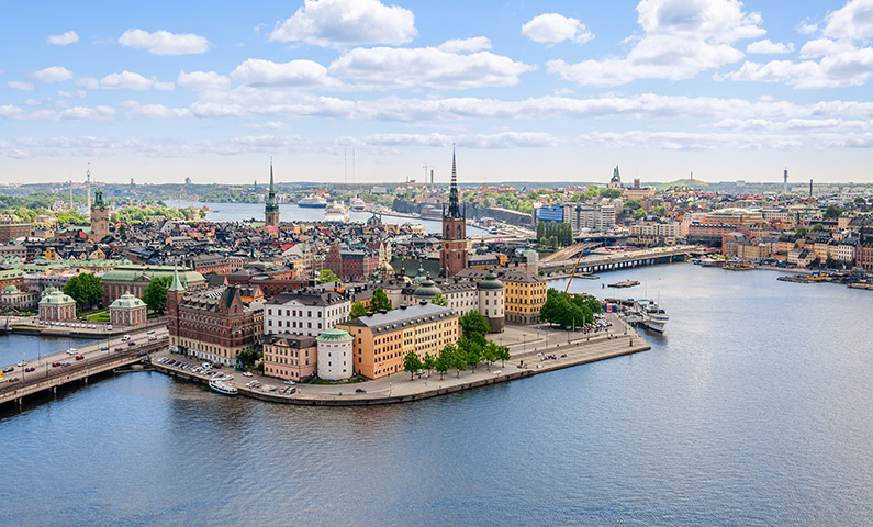 View from the City Hall in Stockholm