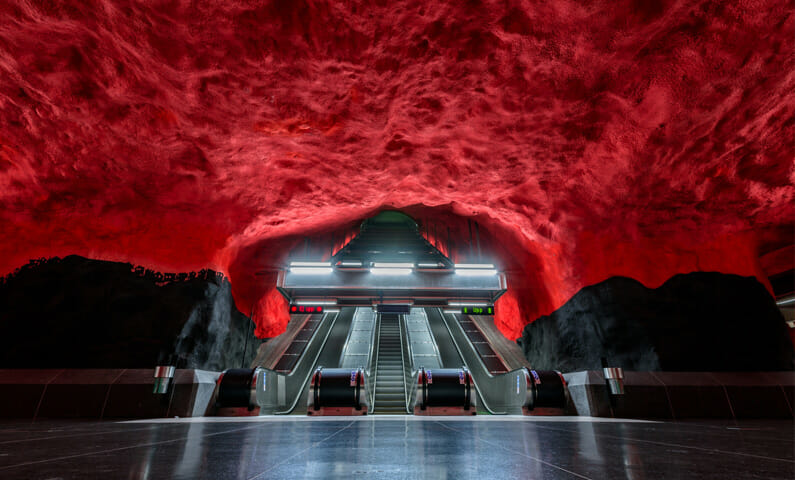 Tunnelbanestation Solna Centrum