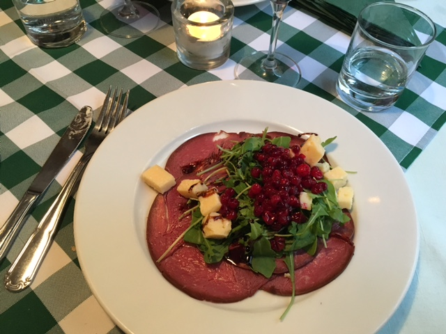 Smoked Reindeer with Västerbotten cheese and lingonberries