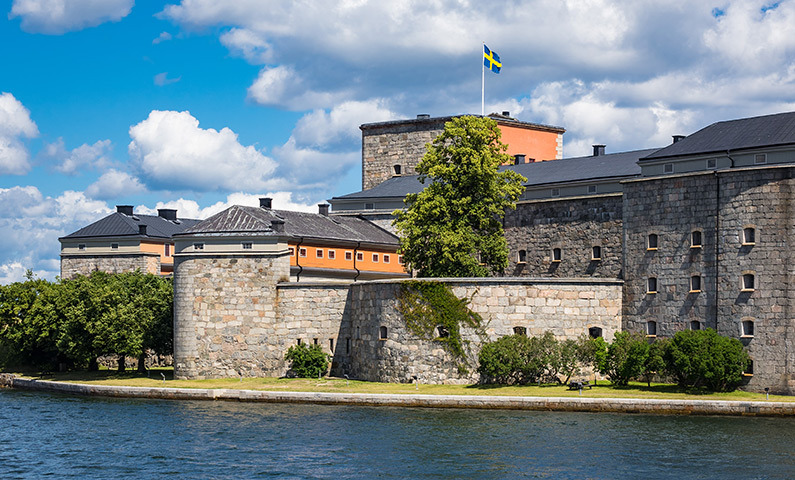 Vaxholm Fortress in Stockholm archipelago