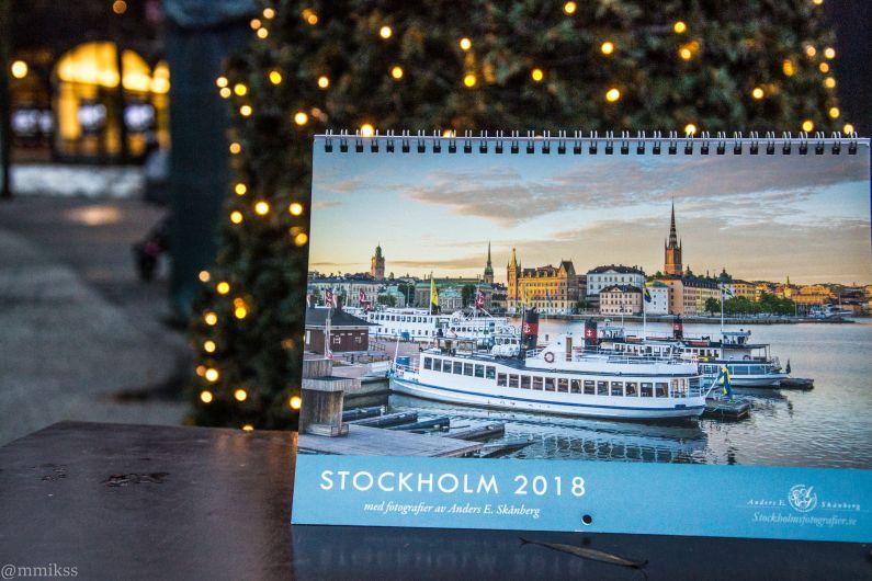 Calendario 2018 con fotografías de Estocolmo.