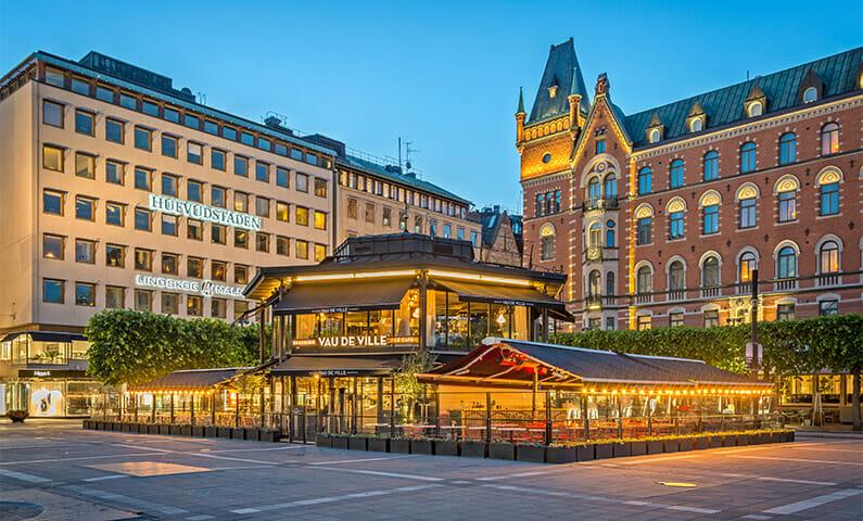 Norrmalmstorg på Östermalm i Stockholm