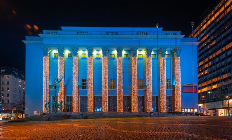 Stockholm Concert Hall at Christmas