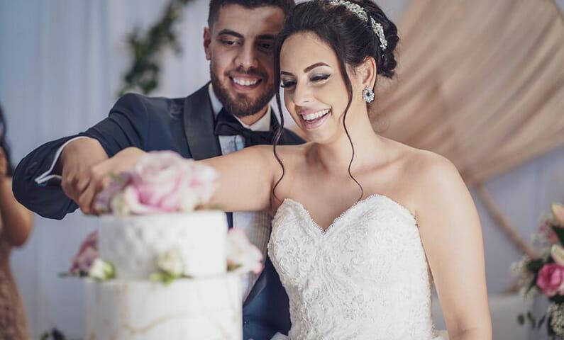 Bilal och Haibat bröllopstårta
