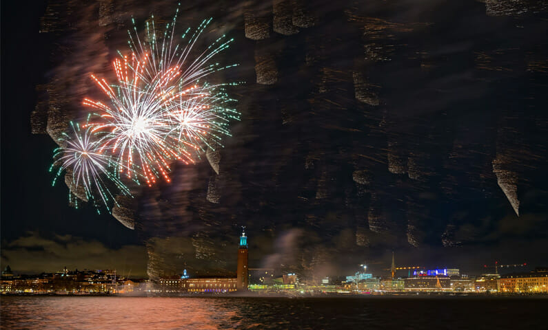Stockholm New Years Eve fireworks