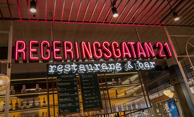 Regeringsgatan 21, restaurant in Stockholm