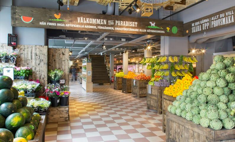 Paradiset food store, Stockholm