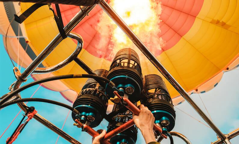 Ballongflyg i Stockholm
